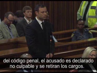 Oscar Pistorius é declarado culpado por homicídio (legendas em espanhol).