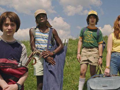 Alguns dos protagonistas de 'Stranger Things'.
