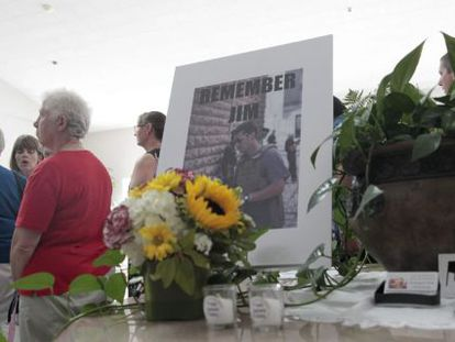 A família de Foley realizou uma missa fúnebre em New Hampshire.