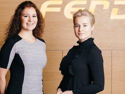 Alexandra e Katharina Andresen na sede da empresa Ferd, em Oslo.