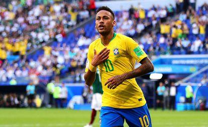 Neymar, depois de marcar um gol contra o México.