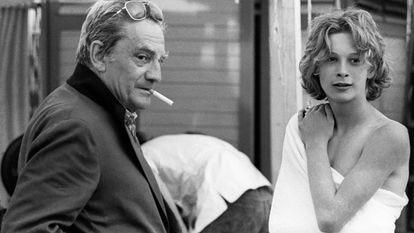 Imagem de 'The Most Beautiful Boy in the World' na filmagem de 'Morte em Veneza' com Luchino Visconti e Björn Andrésen.