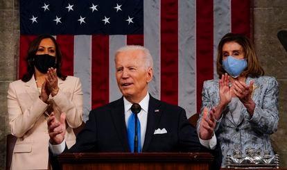 Joe Biden no Capitólio, nesta quarta-feira.