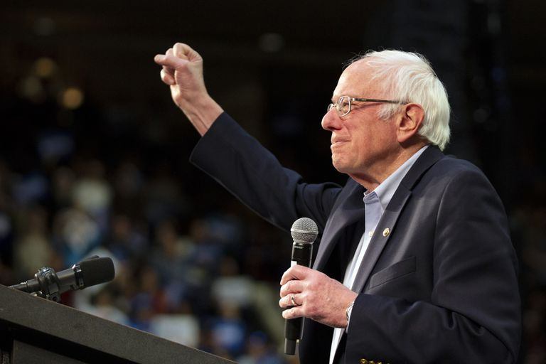 Democratic presidential candidate Sen. Bernie Sanders, I-Vt. speaks at a campaign rally Monday, March 2, 2020, in St. Paul, Minn. (AP Photo/Andy Clayton-King)