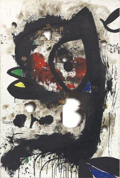 'Lenço queimado 3', de Joan Miró.