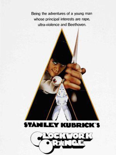 "Capa da versão DVD de ""A Laranja Mecânica"", de Stanley Kubrick."