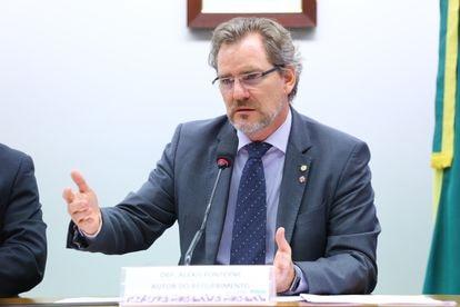 Deputado Alexis Fonteyne (NOVO) em audiência pública na câmara em 31 de outubro de 2019.