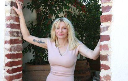 Courtney Love no dia de seu aniversário, em Los Angeles.