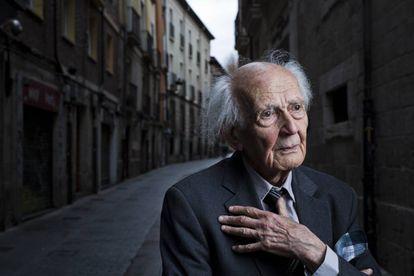 Zygmunt Bauman, no início de 2016, em Burgos, na Espanha.
