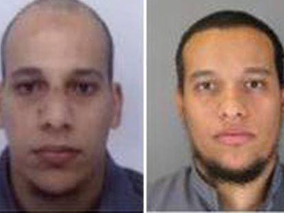 Irmãos Chérif e Said Kouachi em imagem divulgada pela polícia francesa.