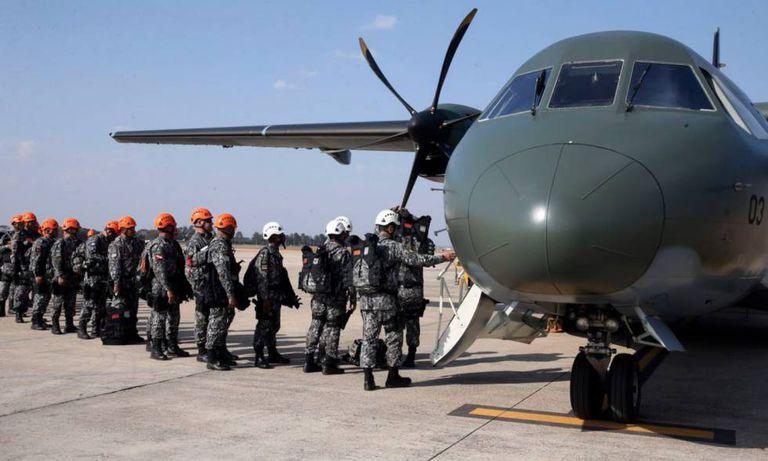 Equipes da Força Nacional embarca na Amazônia, para ajudar a combater incêndios.
