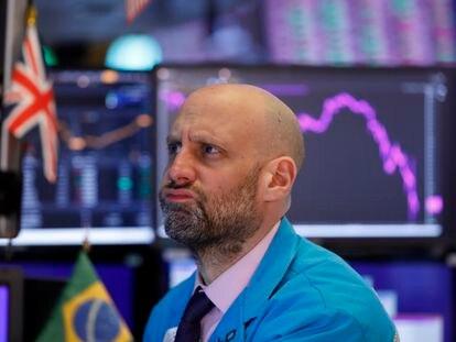 Bolsa de Nova York nesta segunda-feira, 9 de março de 2020.