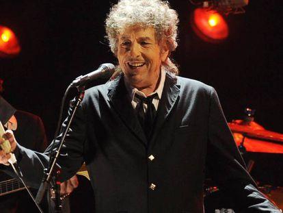 Bob Dylan, durante um show em Los Angeles.