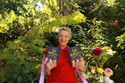 A escritora e jornalista Caitlin Donohue,  autora do livro 'She represents', na Cidade do México.