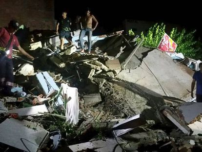 Imagens do tremor compartilhadas nas redes sociais