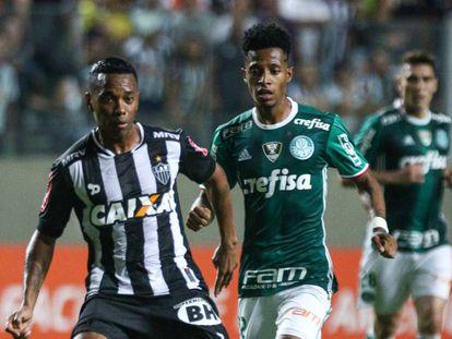 Galo e Palmeiras ficaram no 1 a 1 na quinta-feira.