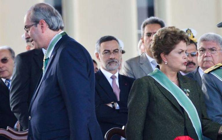 Cunha e a presidenta Dilma.