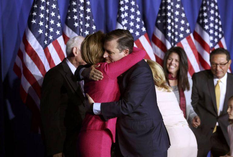 Ted Cruz, nesta terça-feira, pouco antes de anunciar sua renúncia.