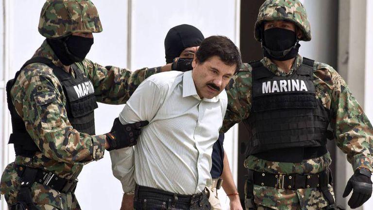 Joaquín Guzmán Loera, após preso em México em 2014.