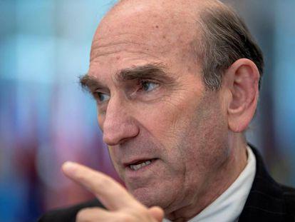 O representante especial do Departamento de Estado dos EUA para a Venezuela, Elliott Abrams.