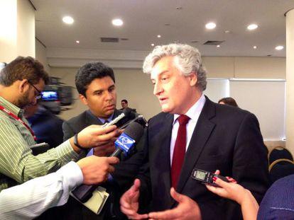 Oscar Vilhena na apresentação do Anuário sobre Segurança Pública.