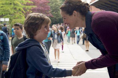 Jacob Tremblay e Julia Roberts em 'Extraordinário'