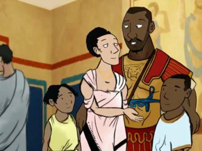 Septímio Severo e sua família.
