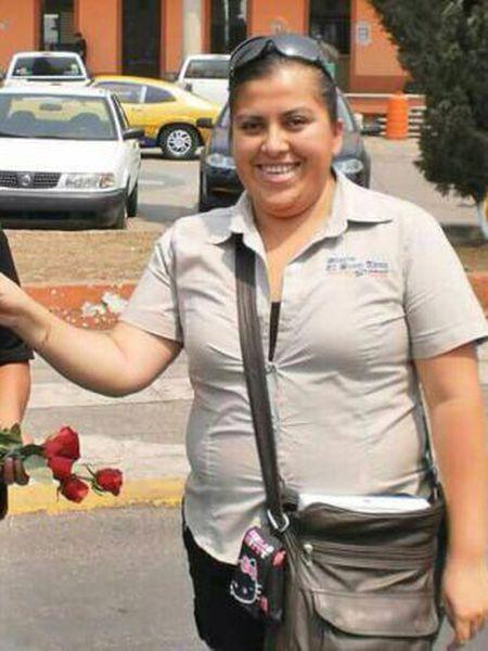 A jornalista assassinada Anabel Flores.