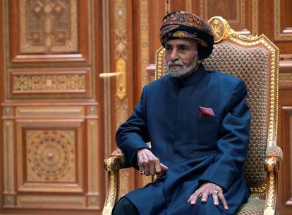 O sultão Qaboos bin Said al-Said em uma foto de janeiro de 2019.