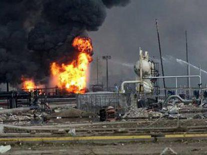 O acidente ocorreu no complexo petroquímico de 'Pajaritos' no porto de Coatzacoalcos e librou no ar componentes químicos perigosos