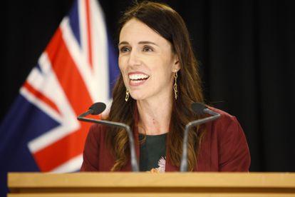 Jacinda Ardern em uma conferência em Wellington, Nova Zelândia, em janeiro.