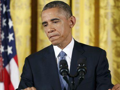 Obama durante entrevista na quarta-feira na Casa Branca.