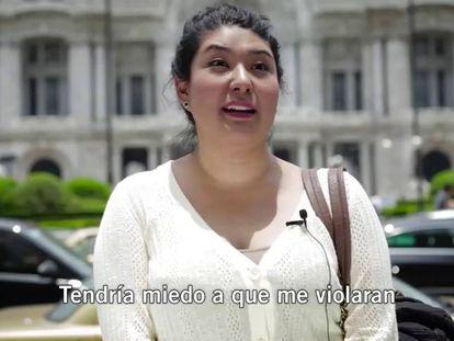 Vídeo-experimento da Anistia Internacional sobre o assédio a mulheres.