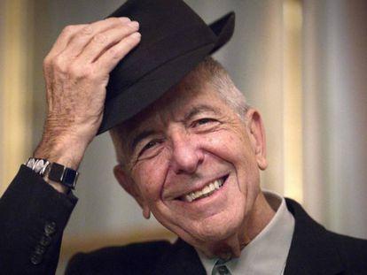 Leonard Cohen, em janeiro de 2012, em Paris.