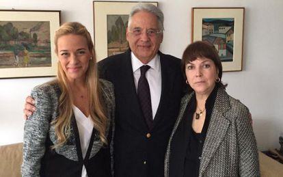 Tintori e Mitzy com Fernando Henrique.