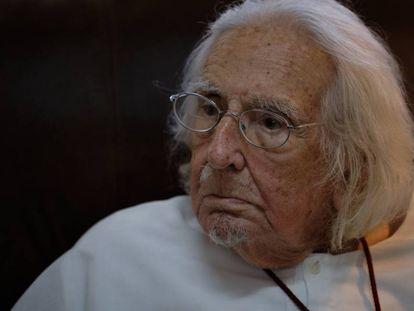 O poeta e sacerdote Ernesto Cardeal, em sua casa de Managua na passada quinta-feira.