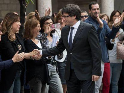 Carles Puigdemont, presidente do Governo regional da Catalunha