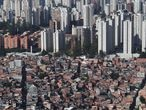 An aerial view shows the city's biggest slum Paraisopolis after residents have hired a round-the-clock private medical service to fight the coronavirus disease (COVID-19), in Sao Paulo, Brazil April 2, 2020.  REUTERS/Amanda Perobelli