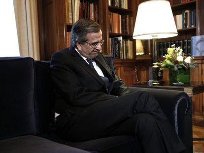 Andonis Samaras, primeiro-ministro grego, em Atenas.