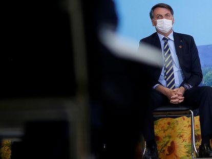 O presidente Jair Bolsonaro, no dia 17, no Planalto.