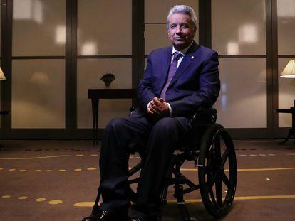 O presidente Lenín Moreno, em Madri.