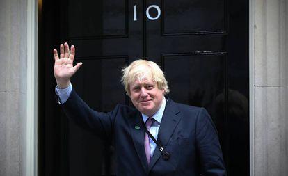 Boris Johnson, na entrada de Downing Street, em 2015.