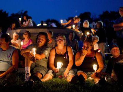 Vigília pelos mortos de overdoses nos EUA.