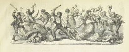 'The House that Jack built', ilustração satírica de George Cruikshank (1853).