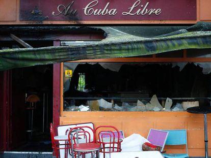 Bar onde ocorreu o incêndio.