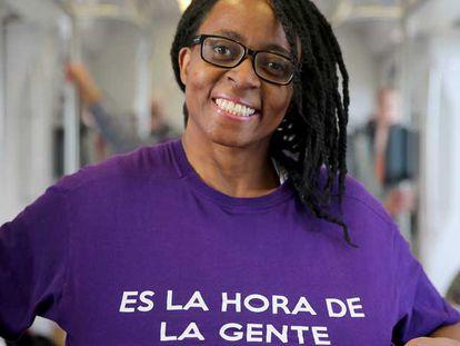 A candidata Rita Bosaho, número um de Podemos em Alicante.