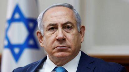 O primeiro-ministro israelense, Benjamin Netanyahu, neste domingo em Jerusalém.