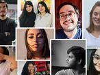Fotomontaje de jóvenes entrevistados para reportaje sobre su generación y como están viviendo la crisis generada por el coronavirus.