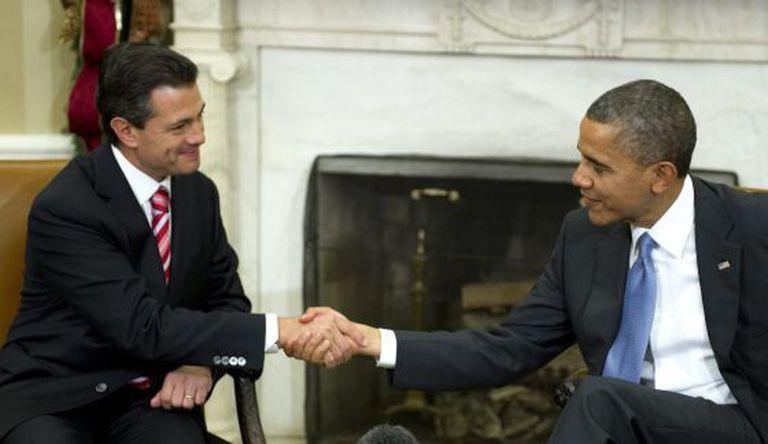 Enrique Peña Nieto e Barack Obama em um encontro no ano passado.
