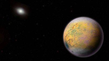 Recriação do planeta X.
